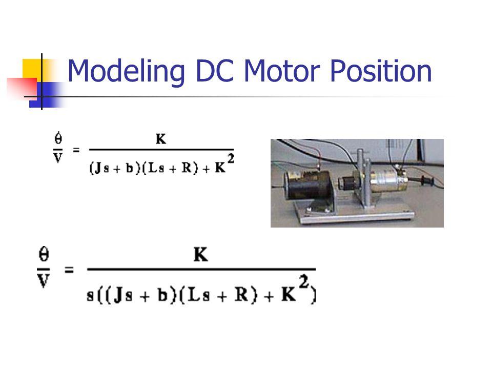 Modeling DC Motor Position