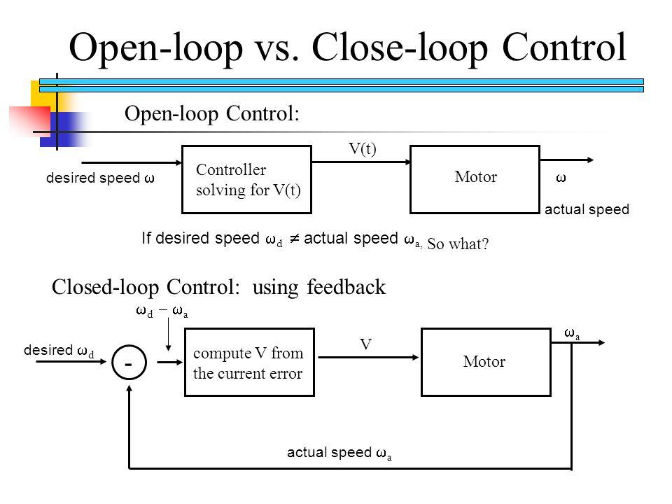 Open-loop vs.