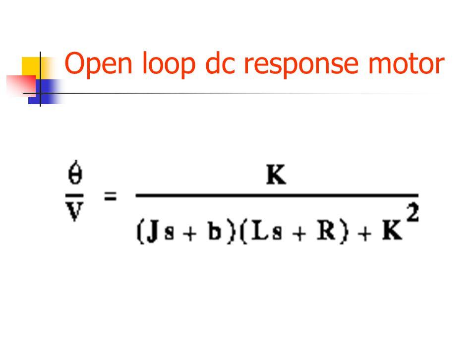 Open loop dc response motor