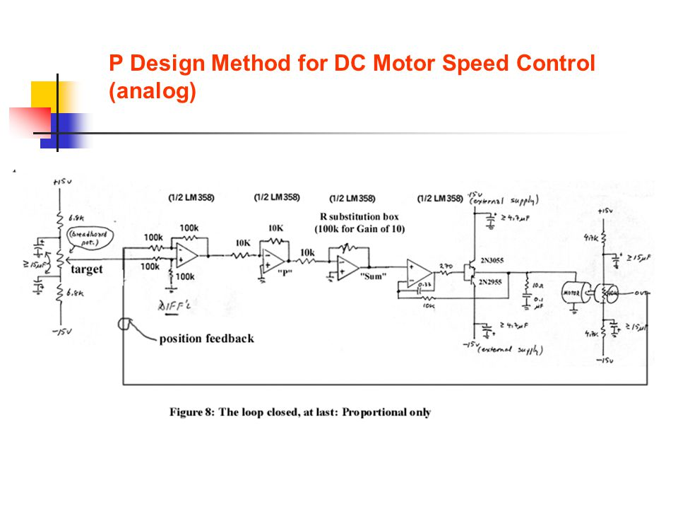 P Design Method for DC Motor Speed Control (analog)