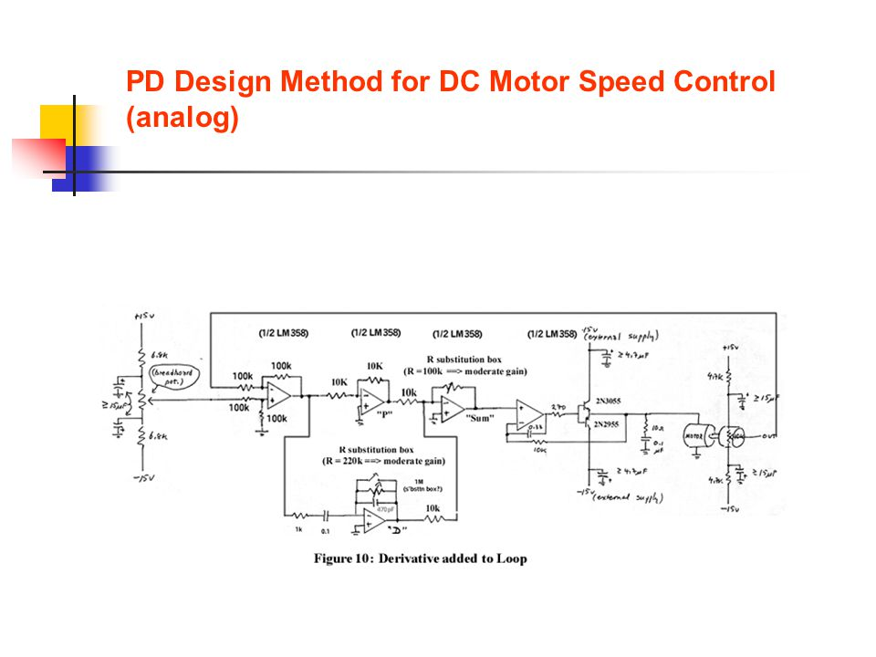 PD Design Method for DC Motor Speed Control (analog)