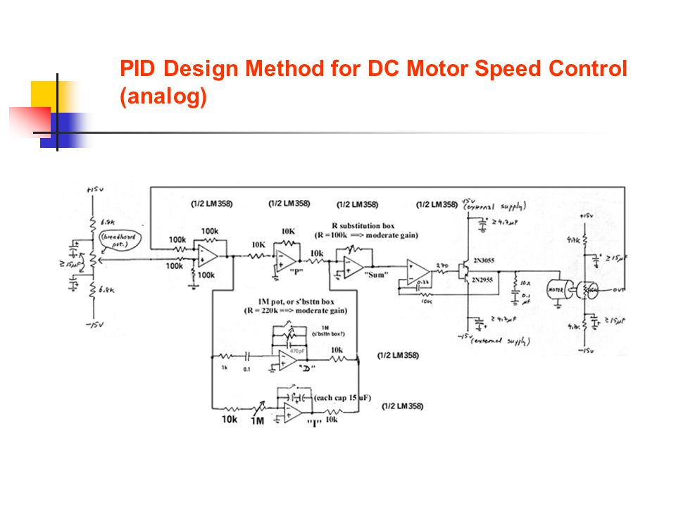 PID Design Method for DC Motor Speed Control (analog)