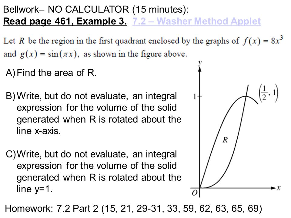Bellwork– NO CALCULATOR (15 minutes): Read page 461, Example 3.