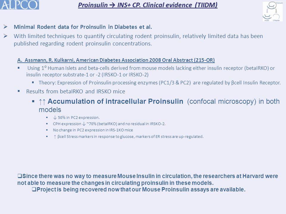  Minimal Rodent data for Proinsulin in Diabetes et al.