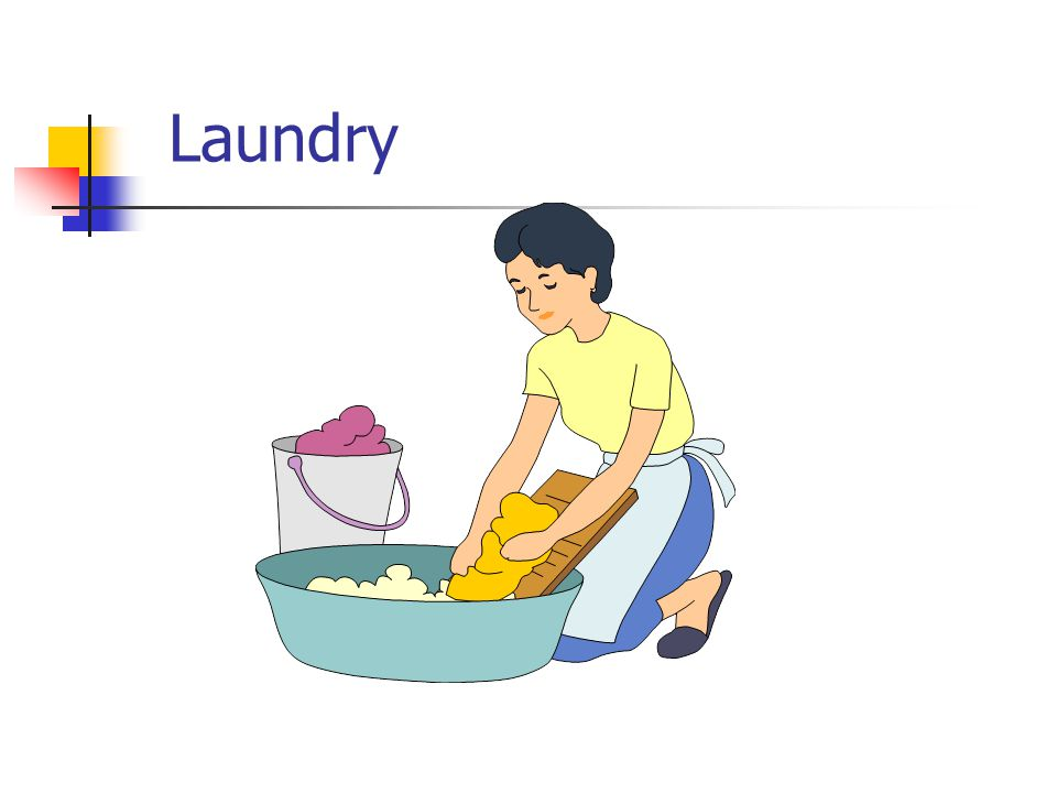 Sorting Check Washing Drying Iron Fold/ Hang Put Away