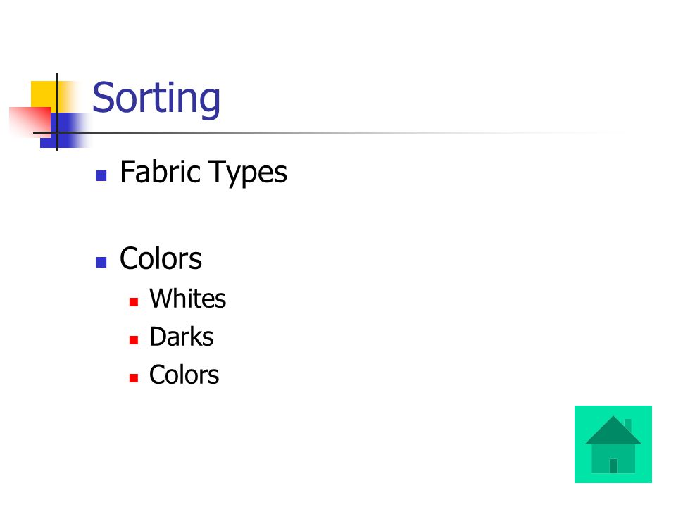 Sorting Fabric Types Colors Whites Darks Colors