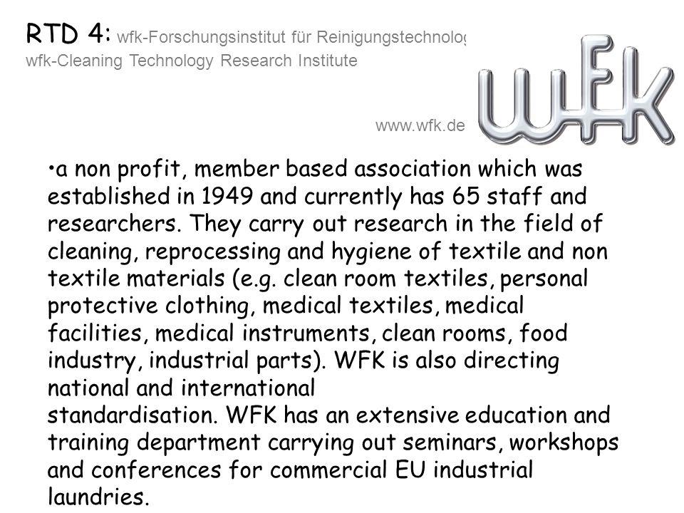 RTD 4: wfk-Forschungsinstitut für Reinigungstechnologie e.V.