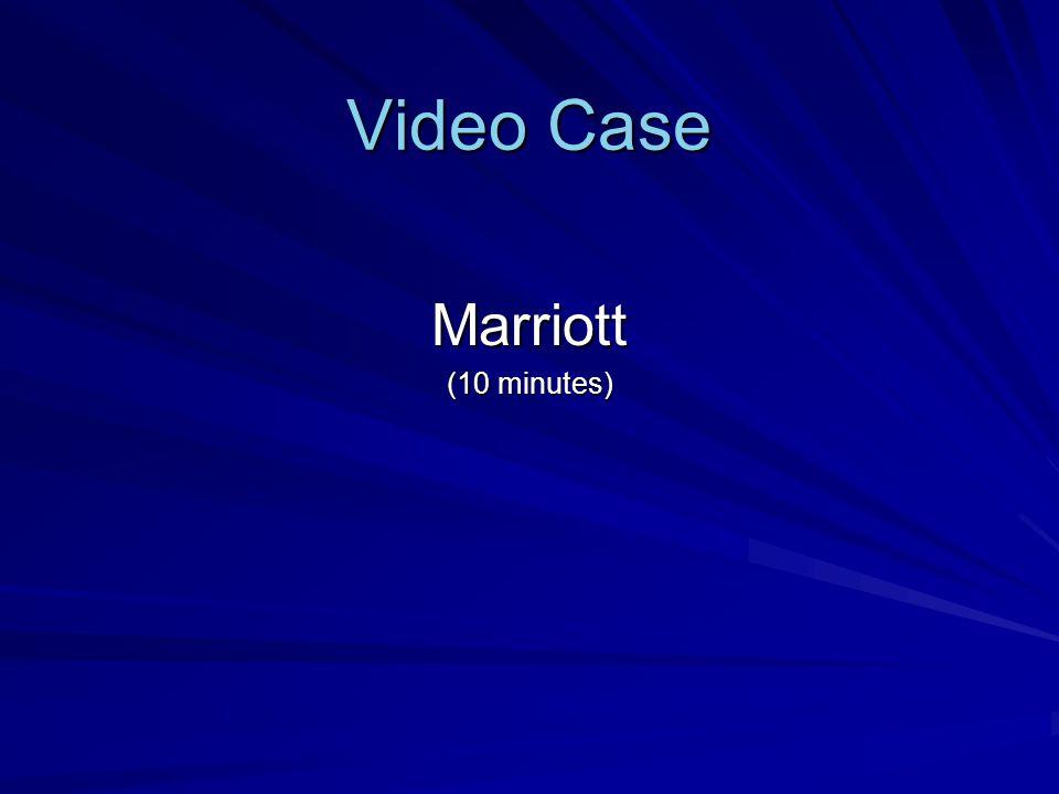 Video Case Marriott (10 minutes)