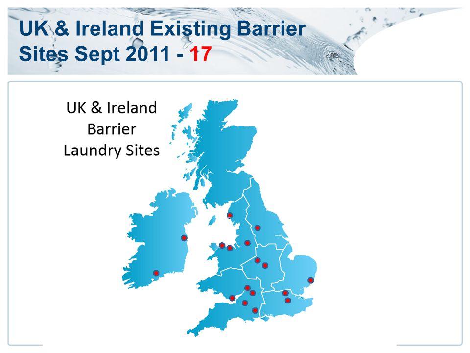 UK & Ireland Existing Barrier Sites Sept 2011 - 17