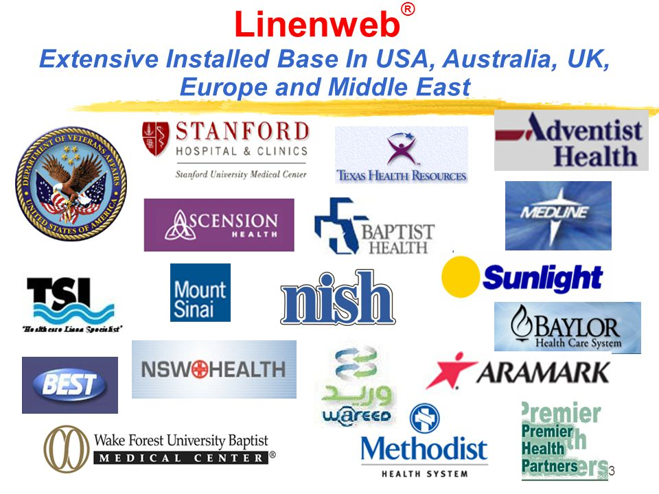 3 Linenweb ® Extensive Installed Base In USA, Australia, UK, Europe and Middle East