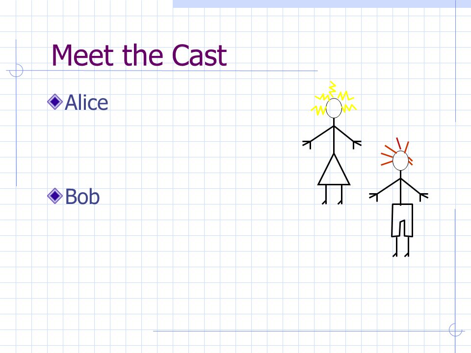 Meet the Cast Alice Bob