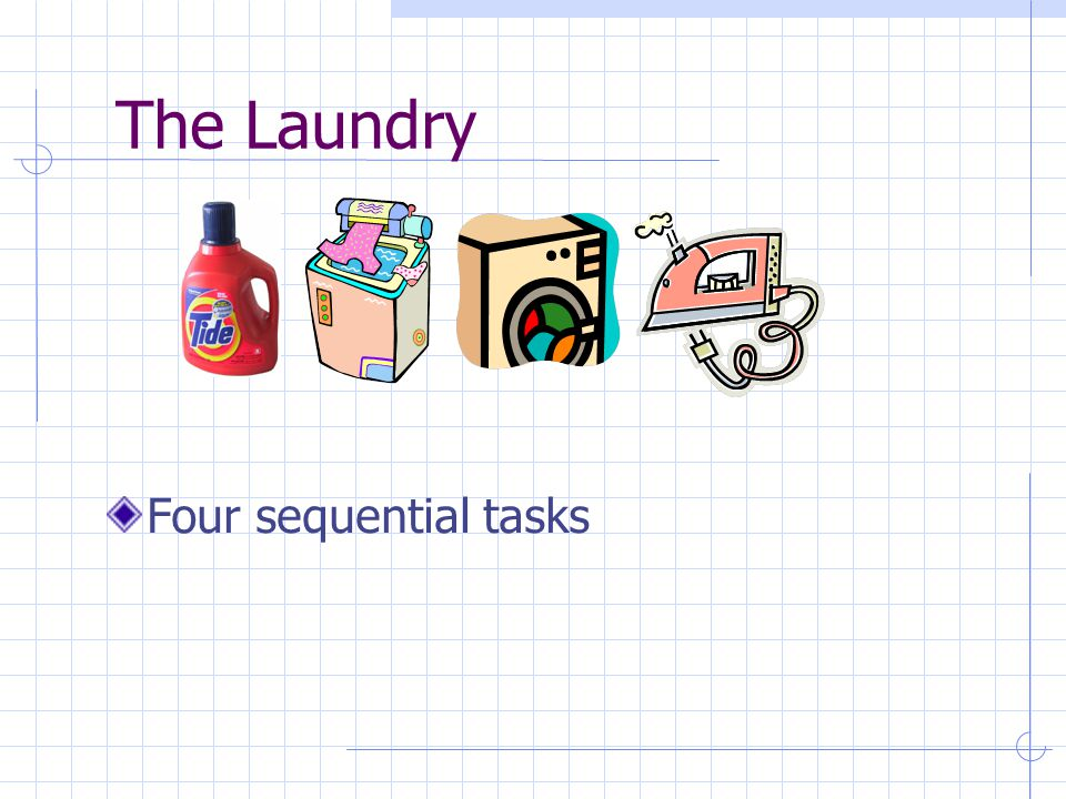 The Laundry Four sequential tasks