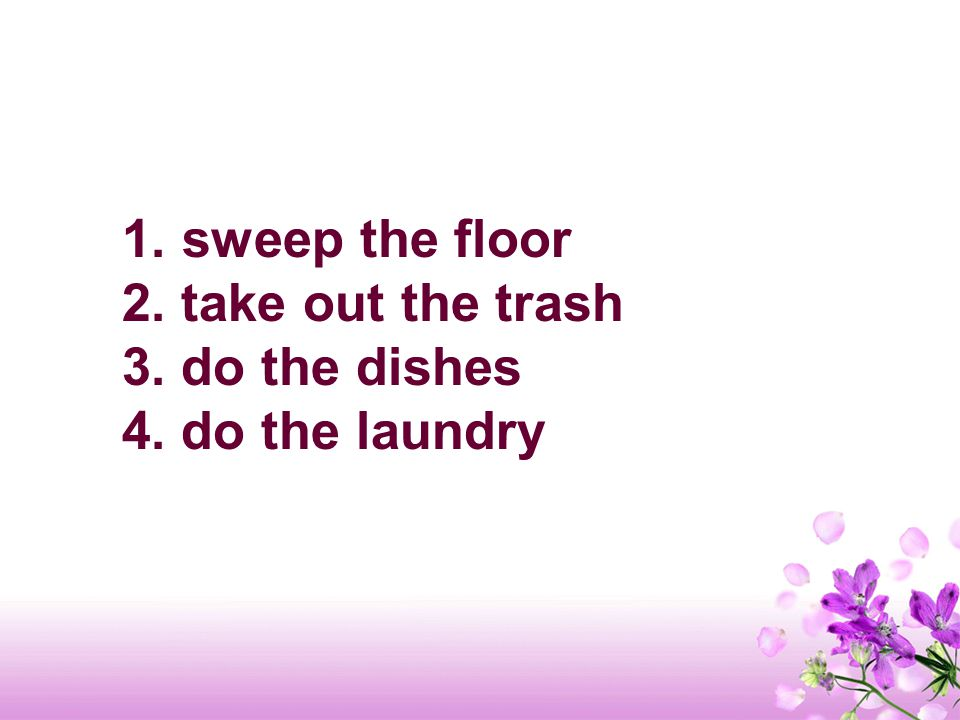 Find 4 chores Peter will do. 24 3 1