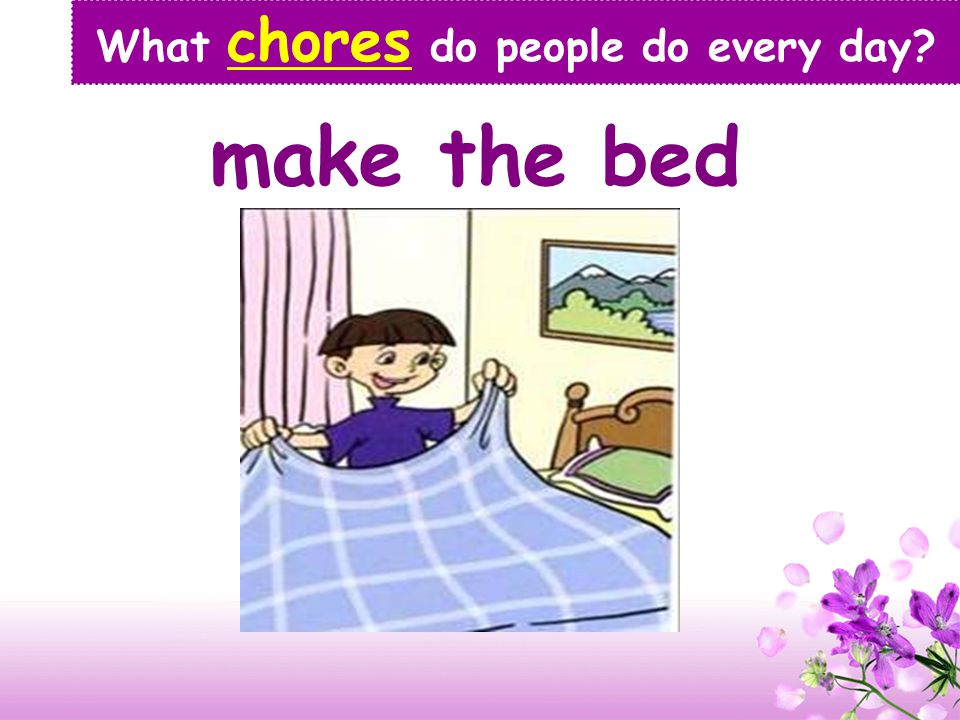 Free talk: What chores do people usually do? Lean-in