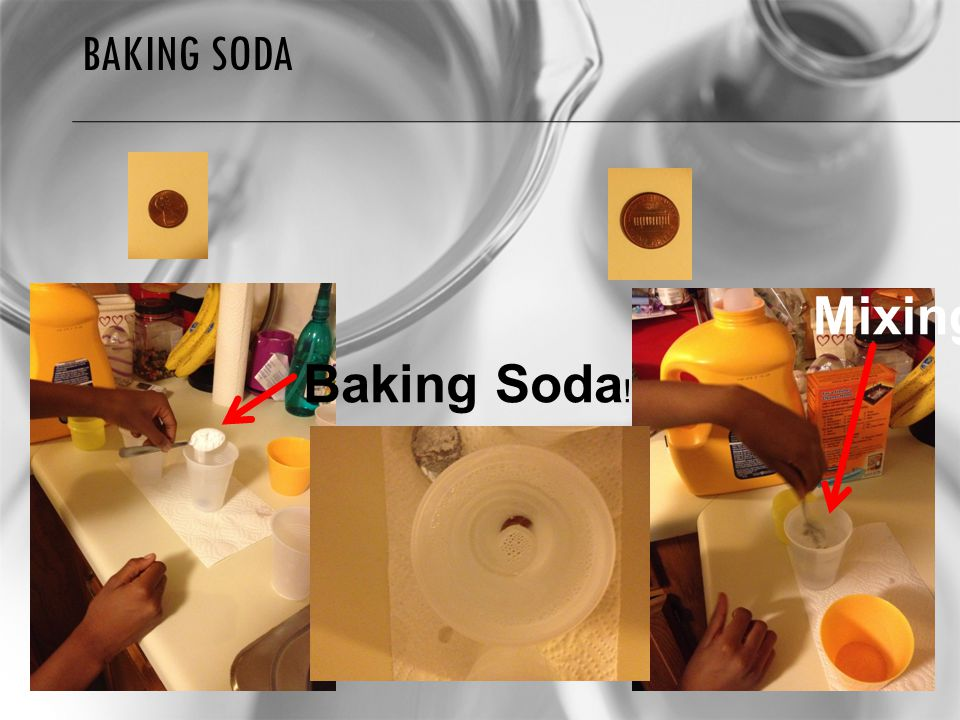 BAKING SODA Baking Soda ! Mixing!