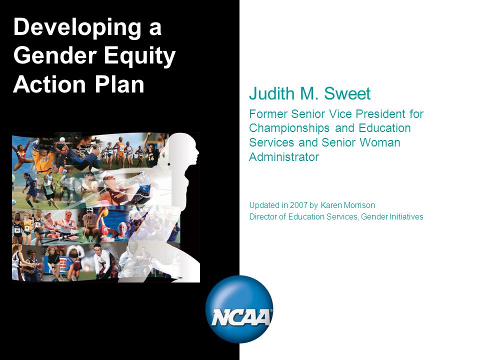 Developing a Gender Equity Action Plan Judith M.