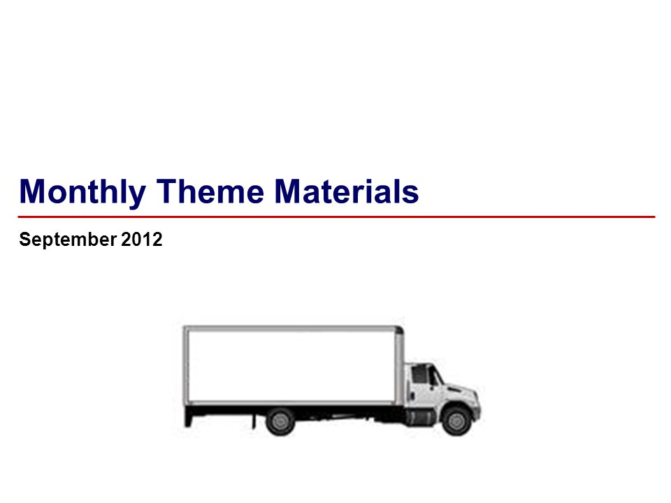 2 August 2012 Monthly Theme – Merchandise Handling Note to LCM: This deck has four segments intended to be shared with your delivery teams over four weeks.