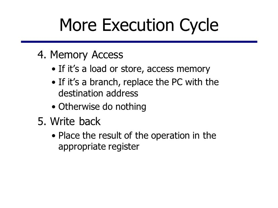 More Execution Cycle 4.