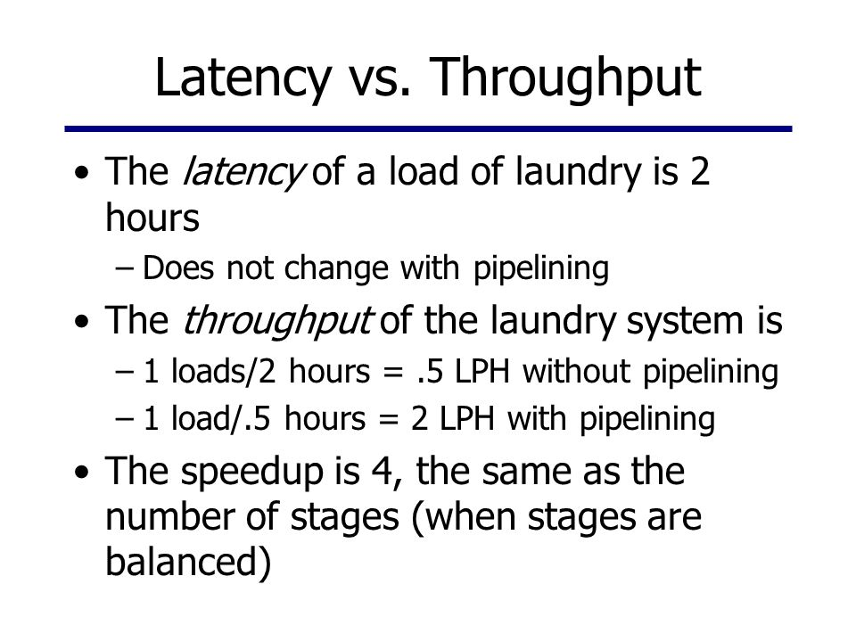 Latency vs.