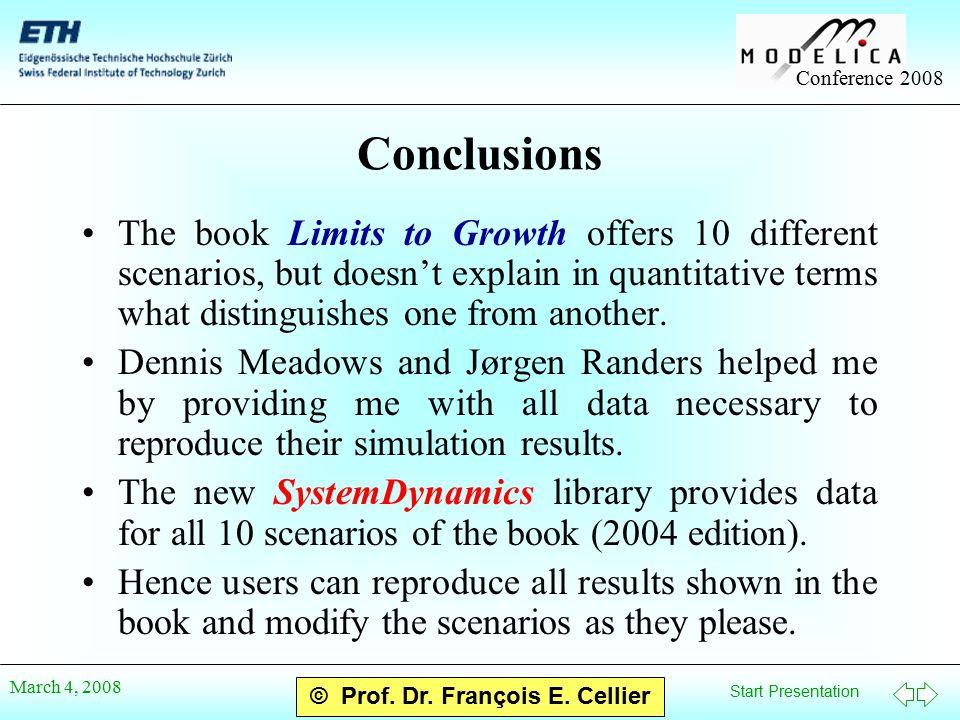 Start Presentation Conference 2008 © Prof. Dr. François E.