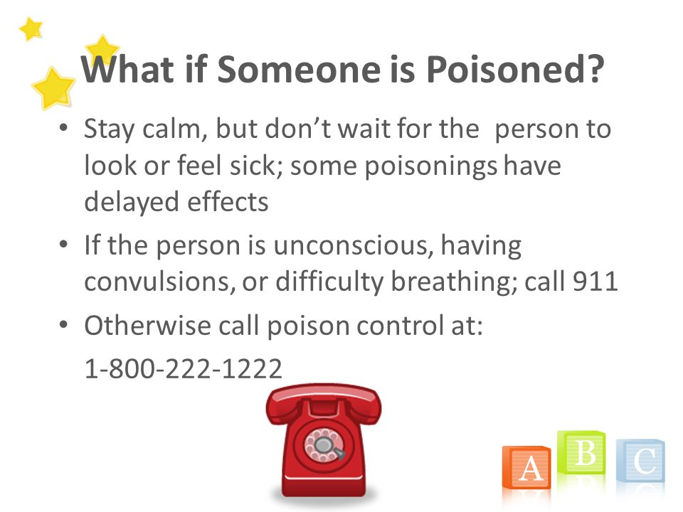 What if Someone is Poisoned.
