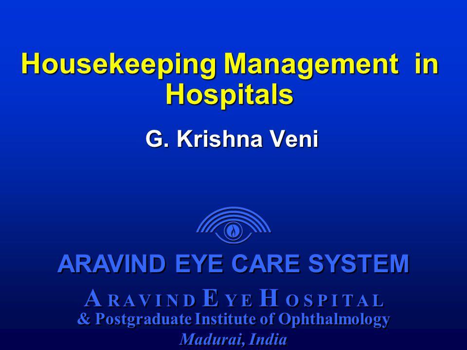 ARAVIND EYE CARE SYSTEM A R A V I N D E Y E H O S P I T A L & Postgraduate Institute of Ophthalmology Madurai, India ARAVIND EYE CARE SYSTEM A R A V I