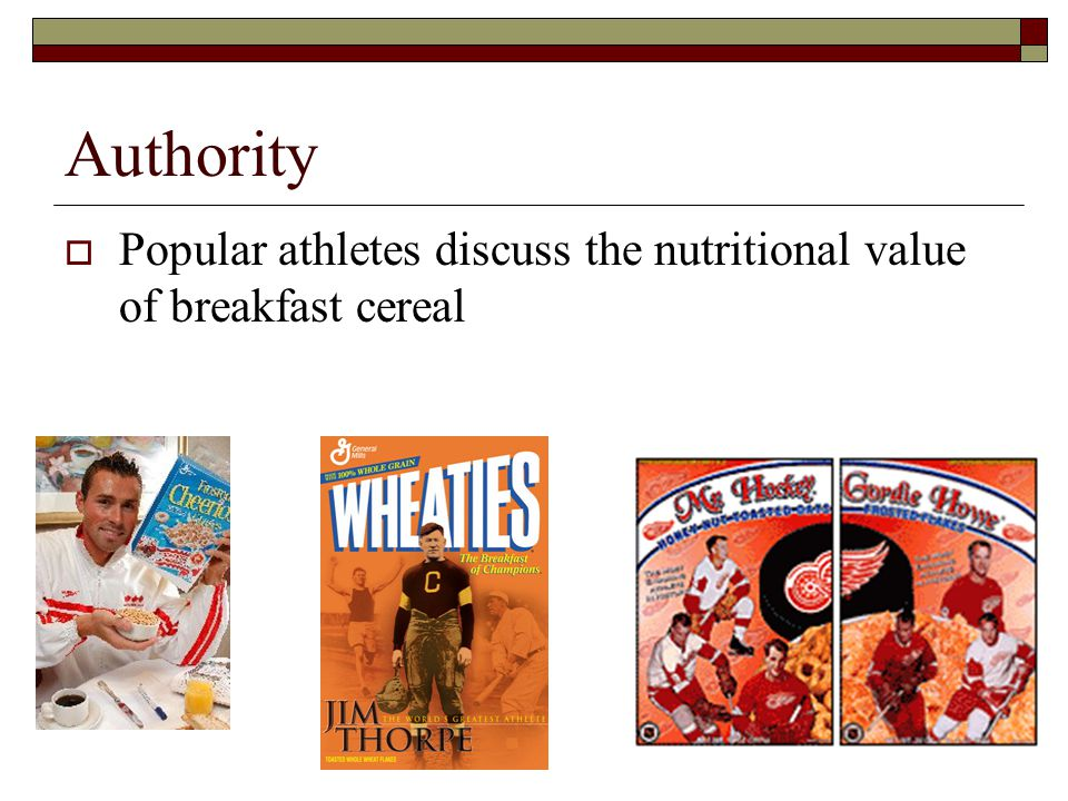 Authority  Popular athletes discuss the nutritional value of breakfast cereal