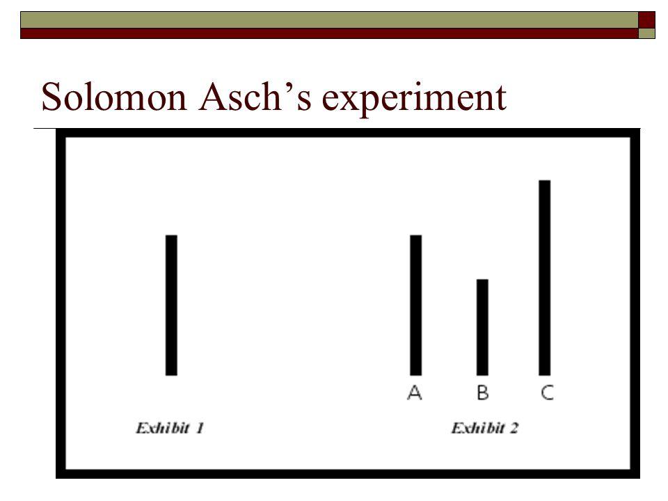 Solomon Asch's experiment