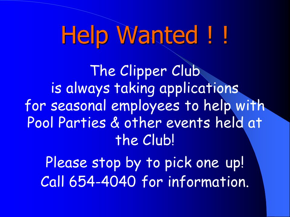 Help Wanted .