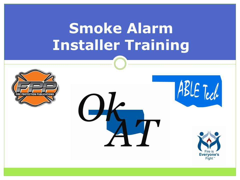 Smoke Alarm Installer Training