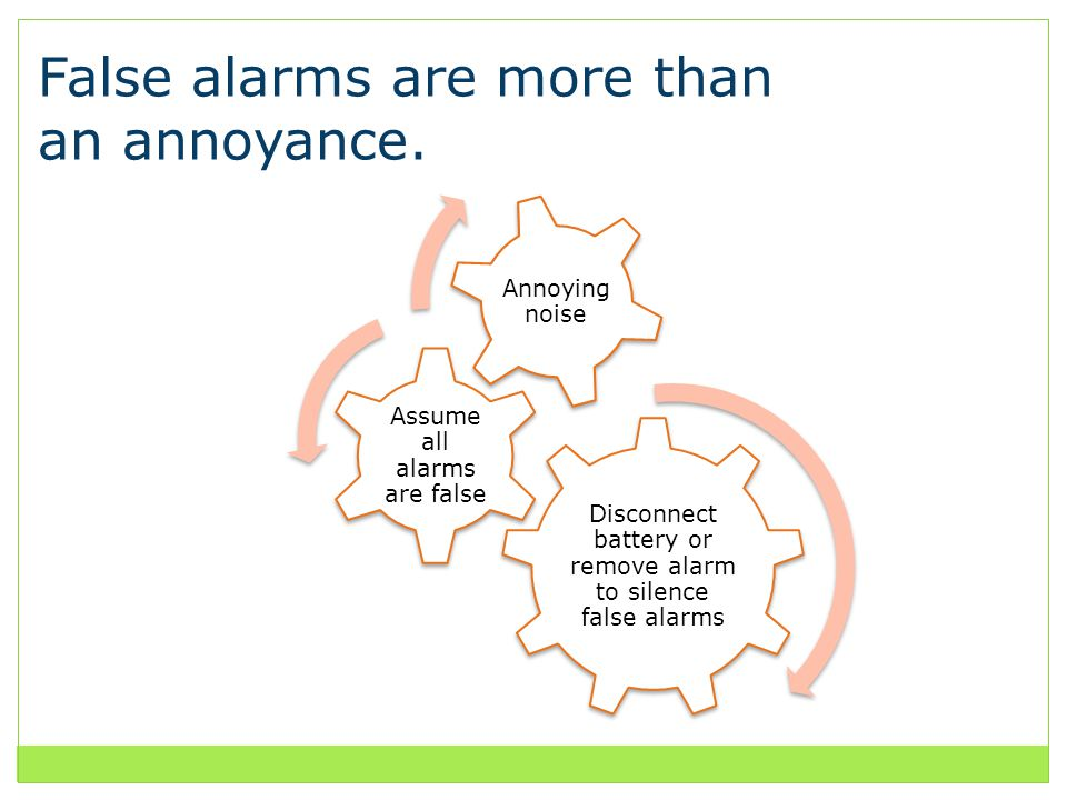 False alarms are more than an annoyance.