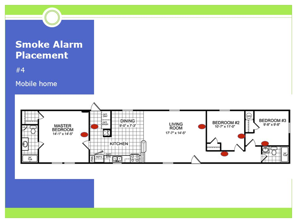 Smoke Alarm Placement #4 Mobile home