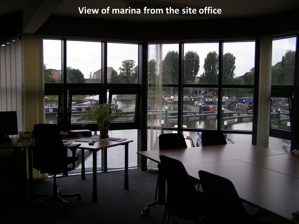 View of marina from the site office