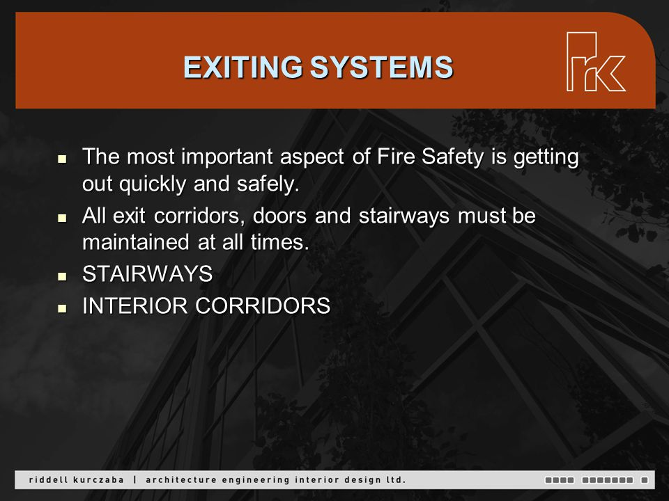 EXTERIOR PASSAGEWAYS AND EXIT STAIRS ALBERTA Fire Code 2.7.1.7.