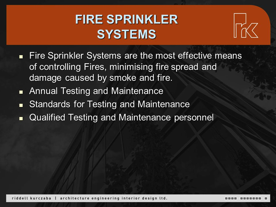 Fire Sprinkler Systems are the most effective means of controlling Fires, minimising fire spread and damage caused by smoke and fire.