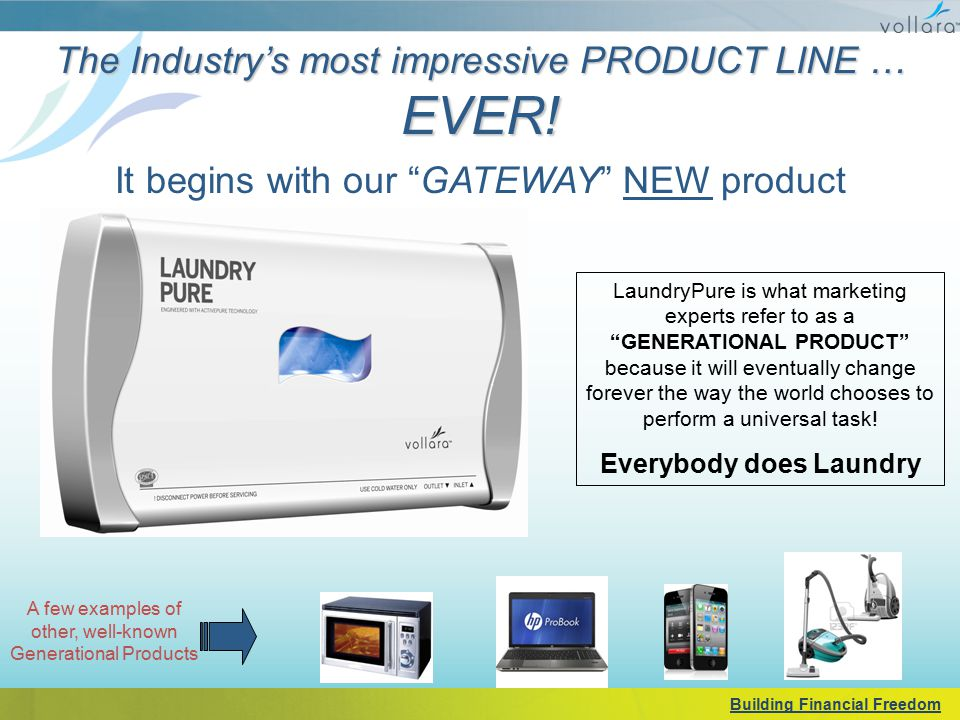 """The Industry's most impressive PRODUCT LINE … EVER! It begins with our """"GATEWAY"""" NEW product LaundryPure is what marketing experts refer to as a """"GENE"""