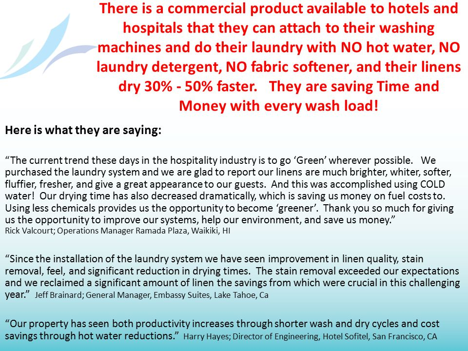Perfect Combination LaundryPure gives you upfront money. Re:Fuel gives you a lifetime of income.