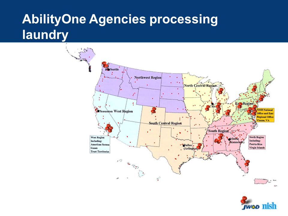 AbilityOne Agencies processing laundry