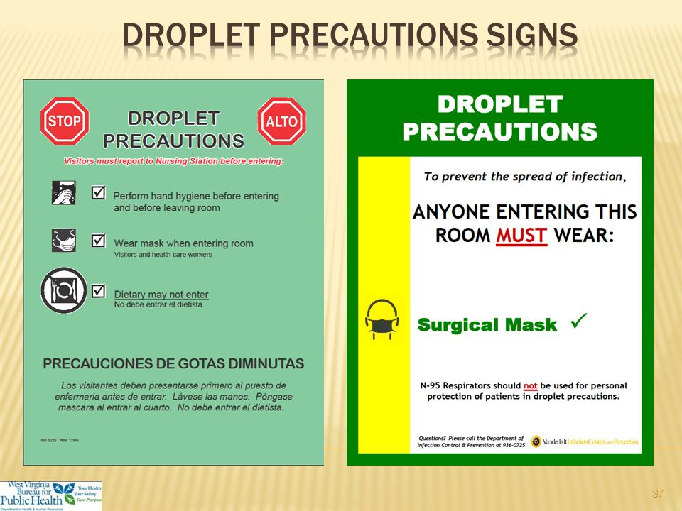  A private/single room or  Cohort with patient with active infection with same microorganism  Use a mask when entering the room and definitely if within 3 feet of patient  Limit movement and transport of the patient.