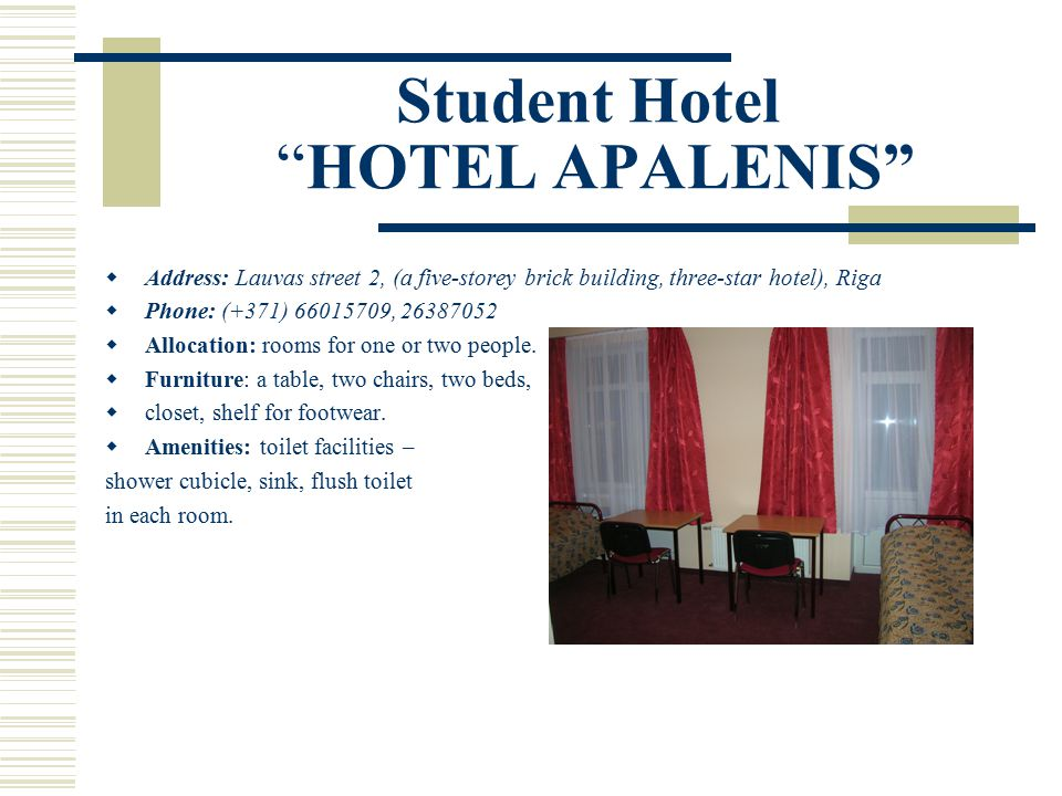 Student Hotel HOTEL APALENIS  A kitchen is available on each floor.