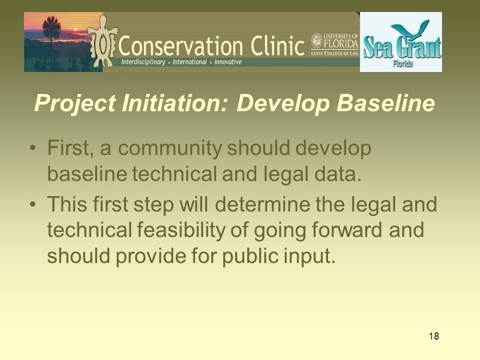 19 Develop Baseline Technical Data Preliminary technical review.
