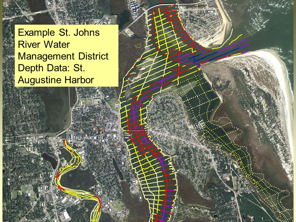 20 Example St. Johns River Water Management District Depth Data: St. Augustine Harbor