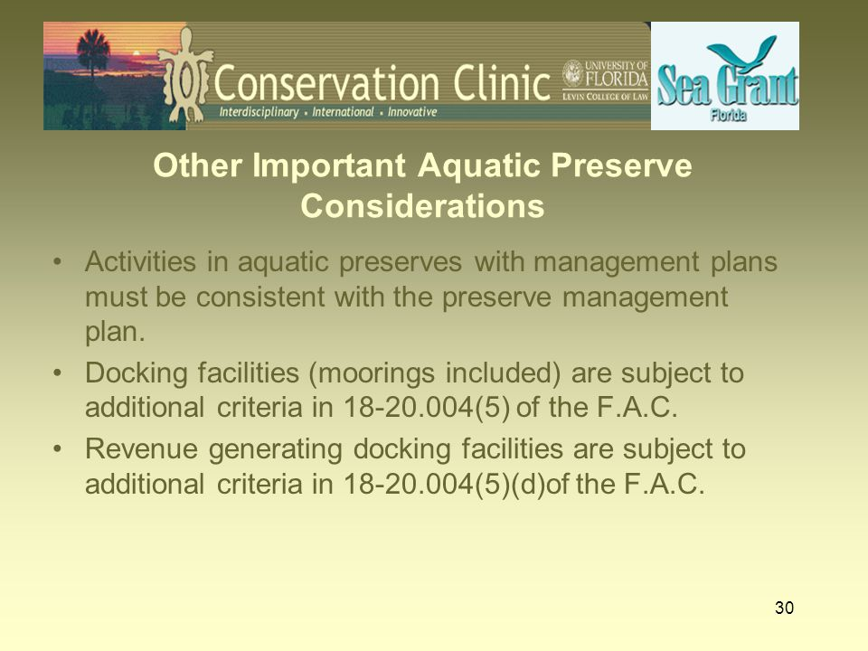 31 So What About MAMFs in Aquatic Preserves.