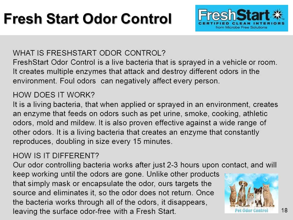 WHAT IS FRESHSTART ODOR CONTROL.