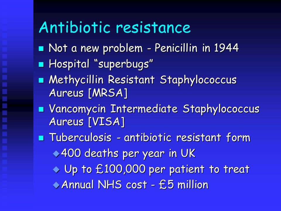 Contemporary issues n Antibiotic resistance n Prevalence of hospital acquired infection n Prion diseases