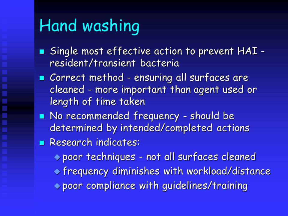 Universal precautions n Hand washing n Personal protective equipment [PPE] n Preventing/managing sharps injuries n Aseptic technique n Isolation n Staff health n Linen handling and disposal n Waste disposal n Spillages of body fluids n Environmental cleaning n Risk management/assessment
