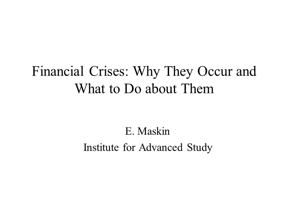 2 Current financial crisis –only latest in long sequence –history of credit crises goes back hundreds of years probably crises will continue in future –each crisis somewhat different –even if we fix mortgage loan market in U.S., something else will happen Today's topic: –why do credit market have repeated crises and other markets don't.