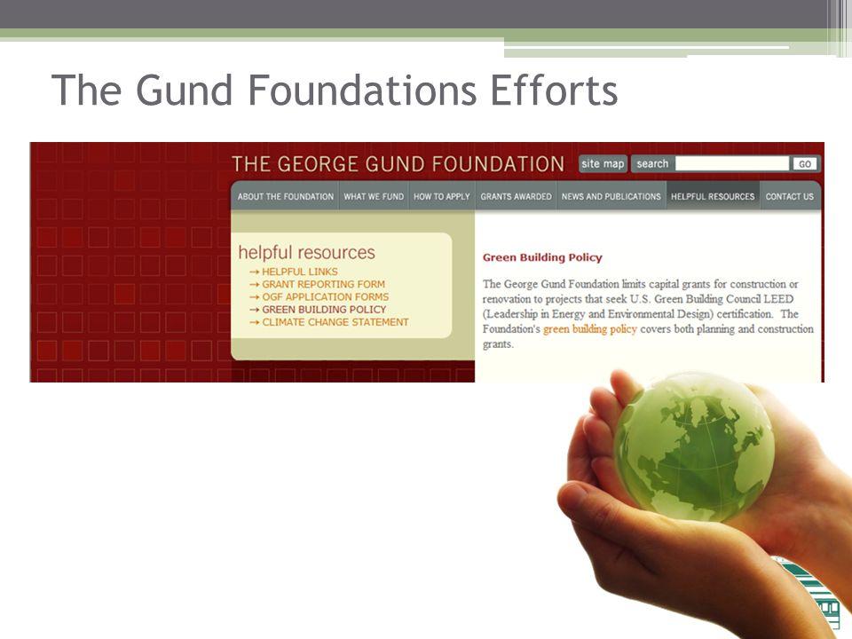 The Gund Foundations Efforts