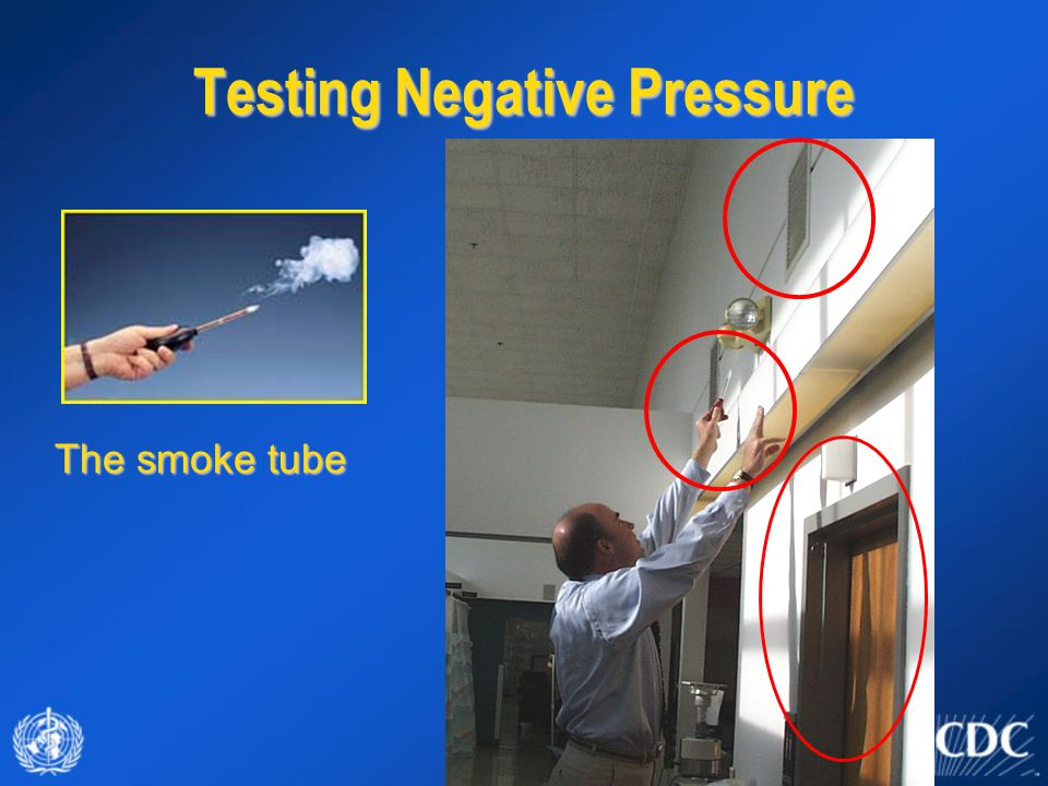 Testing Negative Pressure The smoke tube