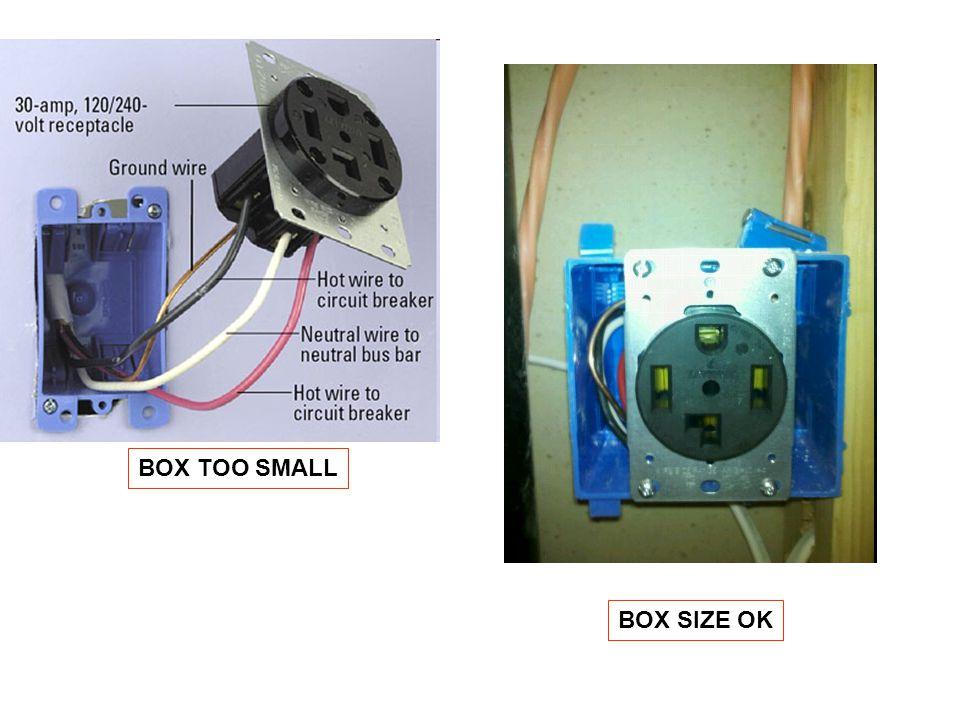 BOX TOO SMALL BOX SIZE OK